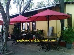 Meja Payung Cafe untuk outlet Planet Baso Pantai Indah Taman Impian Jaya Ancol Jakarta