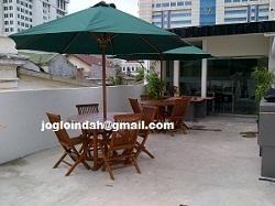 Set Meja Payung Taman di Bank BTPN Wahidin Jakarta Pusat