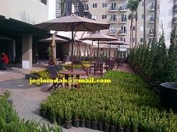 Set Meja Payung Cafe untuk area Pujasera Tower C  Apartemen Puri Parkview Meruya Jakarta Barat