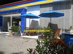Meja Payung Cafe untuk Indomaret Stasiun Gambir Jakarta Pusat