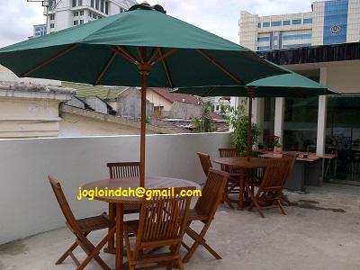 Set Meja Payung Pemesanan PT.Petrosentra Pratama untuk dikirim ke Jambi