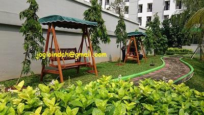 Ayunan Kayu Jati untuk area Danau Apartemen Green Lake View Ciputat