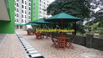 Meja Payung Tenda untuk Tower C Apartemen Green Lake View Ciputat