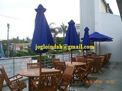 Meja Payung Cafe untuk di Pujasera Indogrosir Yogyakarta